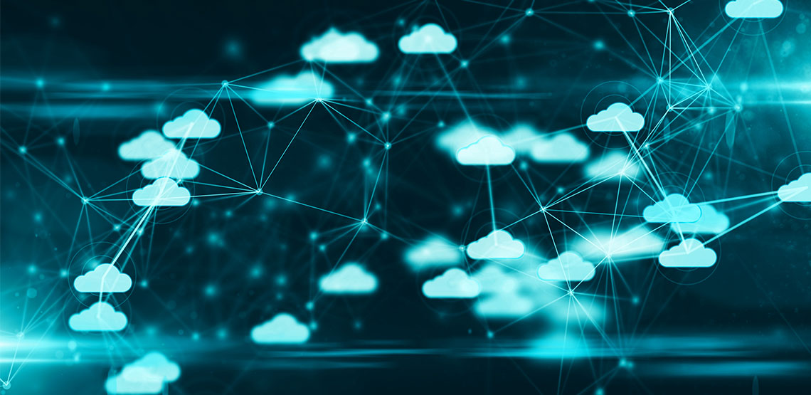 Digital clouds all connected