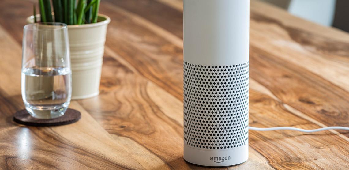 Amazon Echo sitting on table
