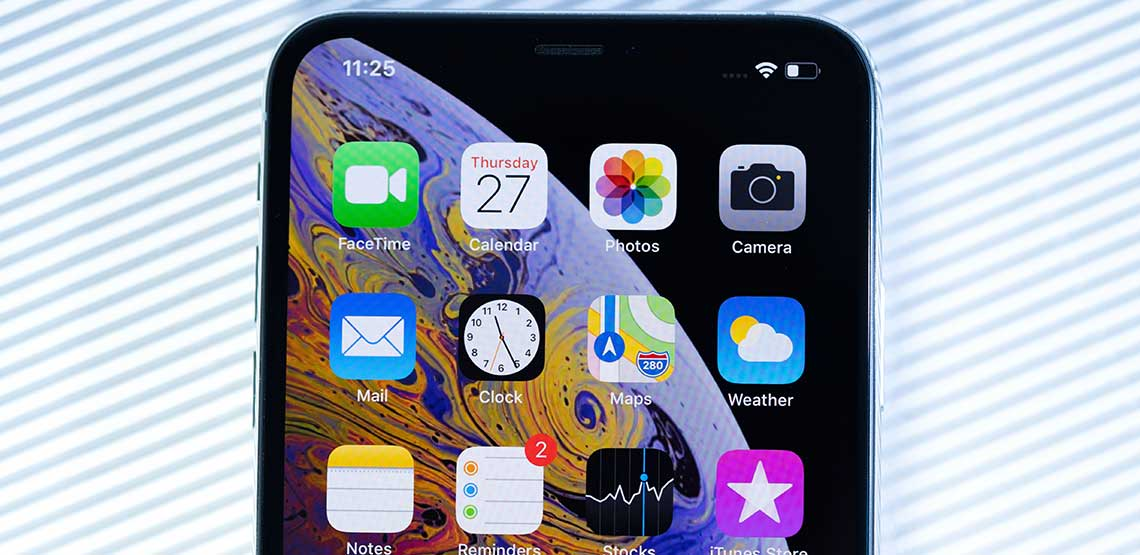 A picture of apps on an iPhone XS