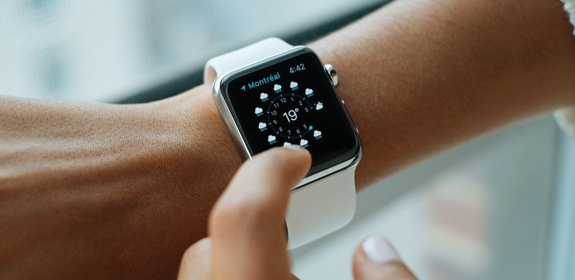 A wearable smart clock.